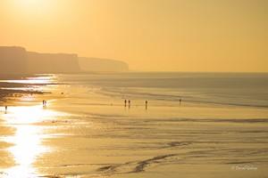 Ault plage heure dorée